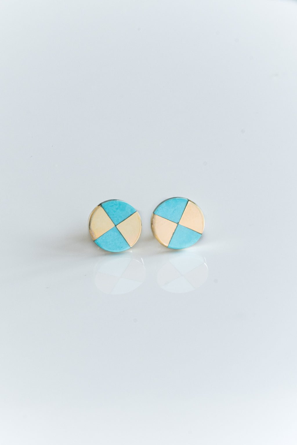 10K TURQUOISE RAY STUDS