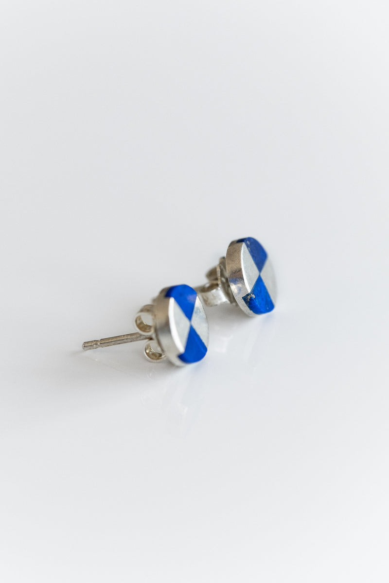 RAY STUDS IN LAPIS + STERLING