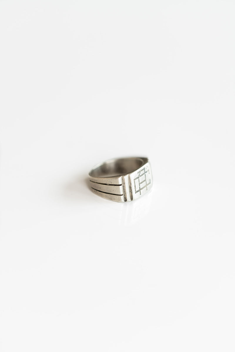 "STERLING SILVER ""CA"" MONOGRAM RING"