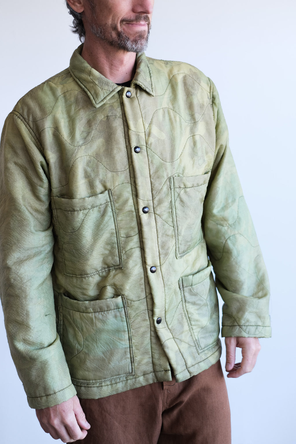 QUILTED CAMO JACKET