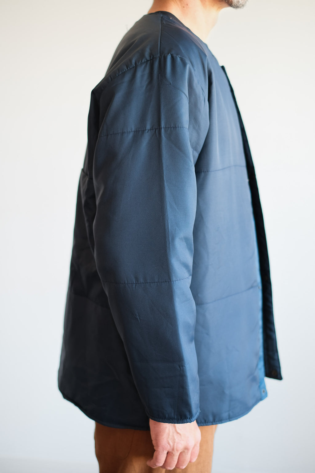 RUSSIAN COLLARLESS LINER JACKET
