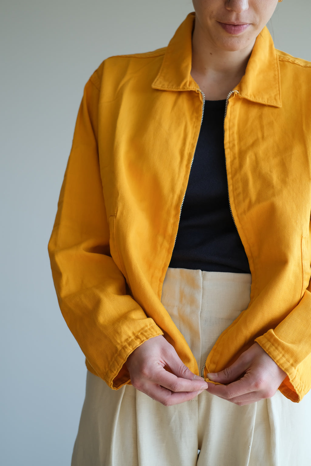 YELLOW GOLF JACKET