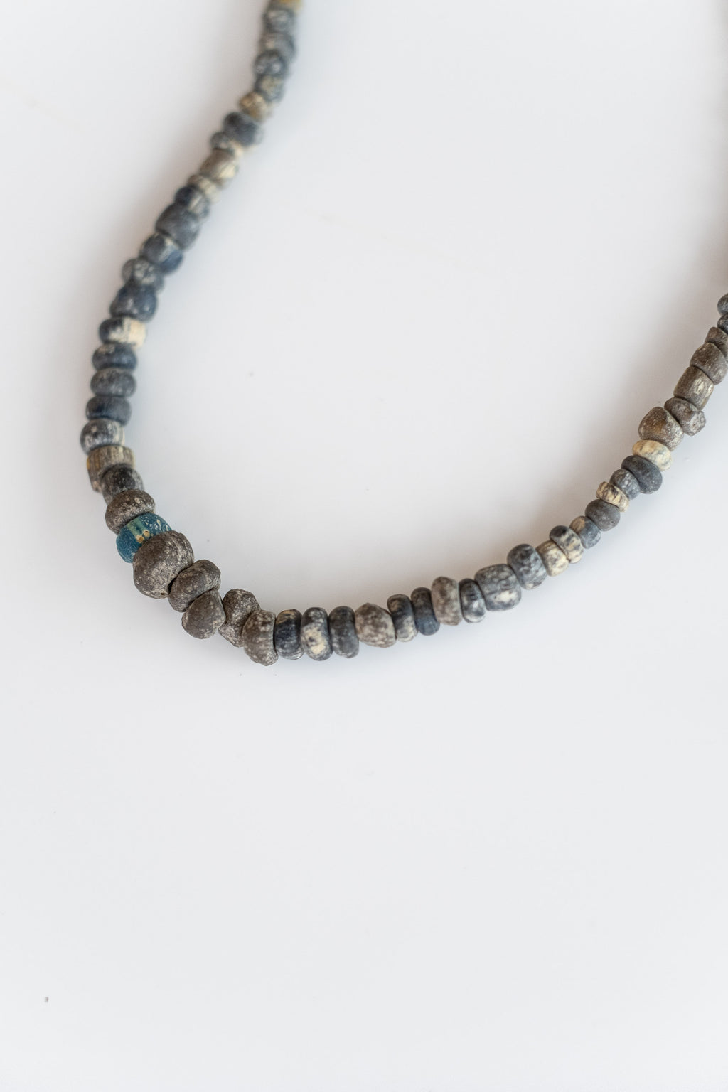 ANTIQUE AFRICAN BEADS IN BLUES