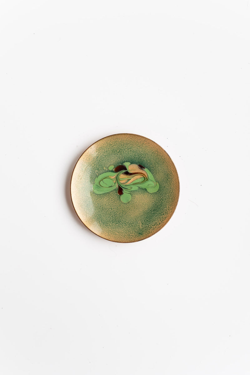 COPPER ENAMEL PLATE