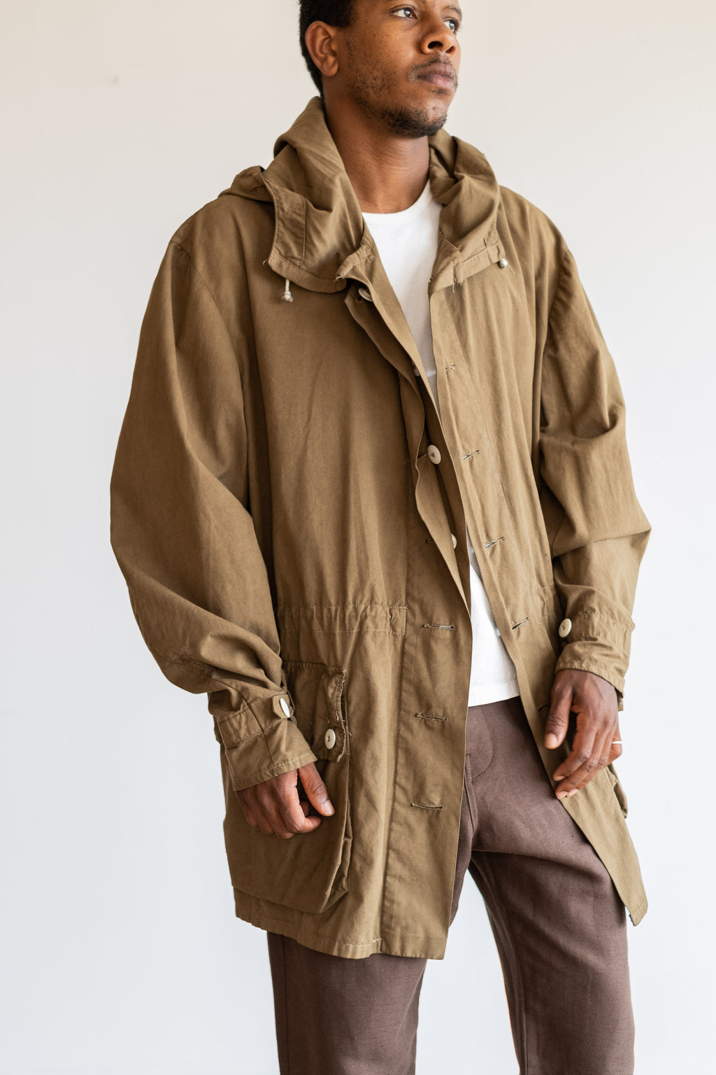 OVERDYED BROWN PARKA