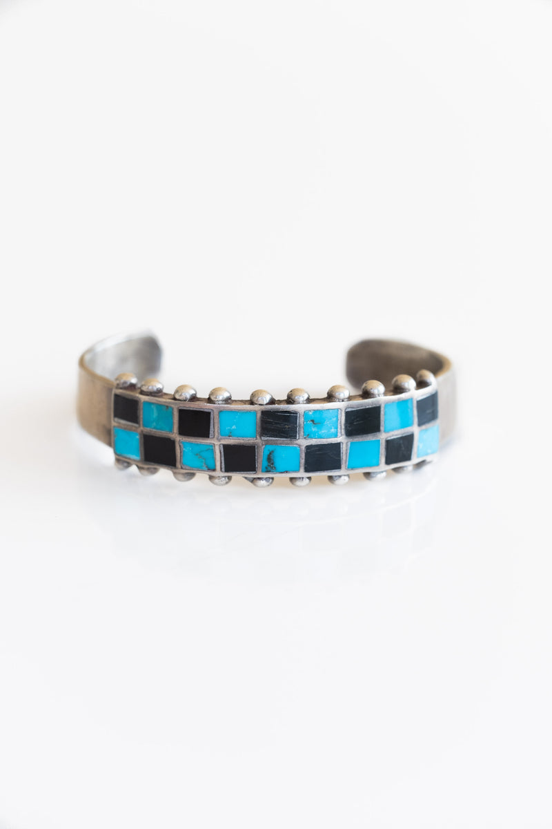 ZUNI INLAY CHECKERBOARD CUFF