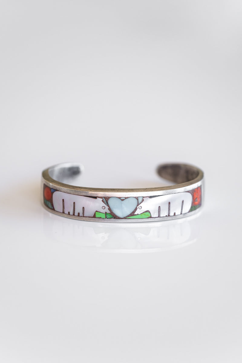 ZUNI BEAR INLAY BRACELET