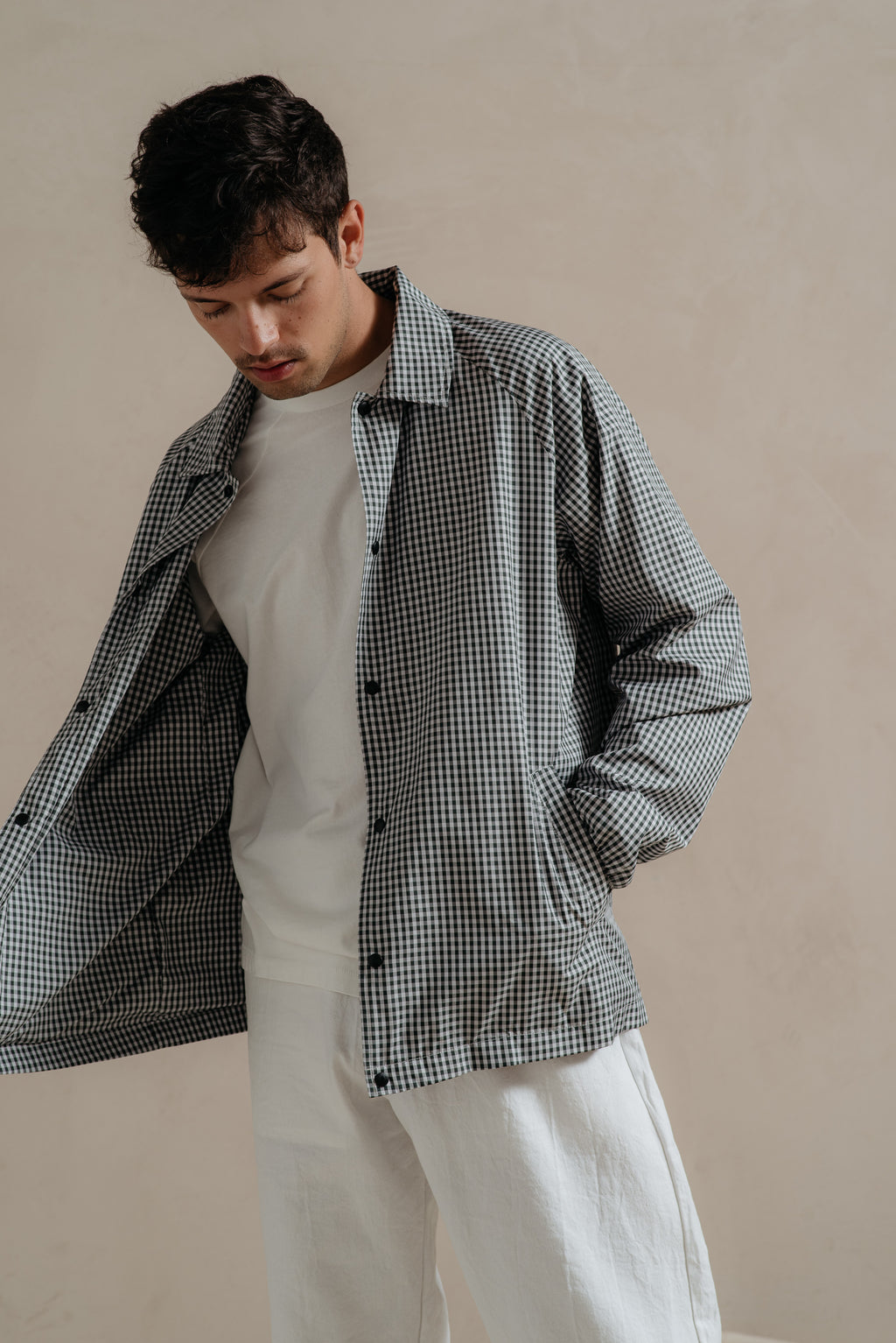 paa GINGHAM SPECTATOR JACKET