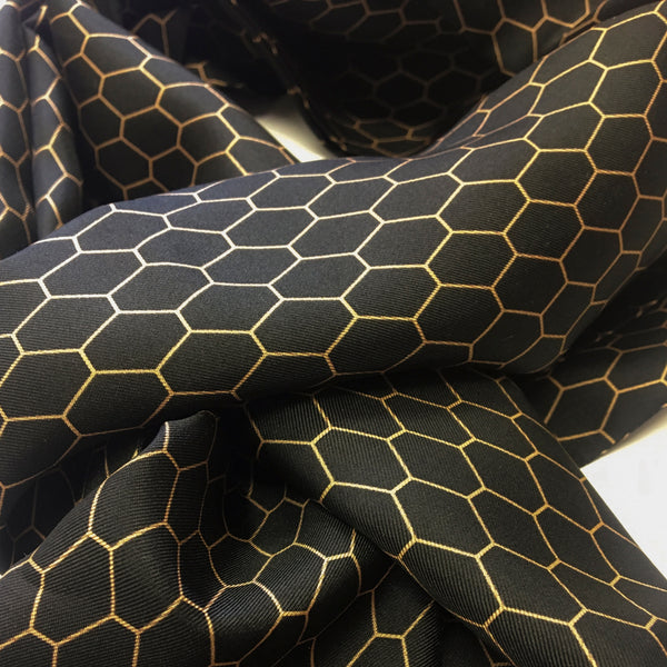'HEXAGON' SILK SCARF