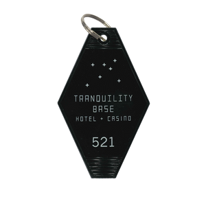 'TRANQUILITY BASE HOTEL + CASINO' KEY RING (BLACK)