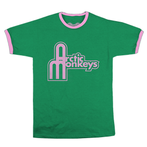 'STRUCTURAL LOGO' BESPOKE RINGER GREEN T-SHIRT - LIMITED EDITION
