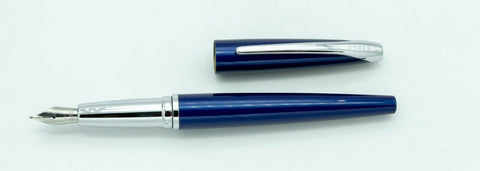 Cross, ATX Fountan Pen, Translucent Blue w/Chrome Plated Trim - NOS163