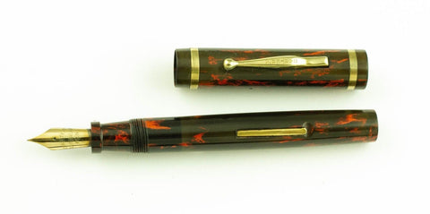 Carter's, 4125 Fountain Pen, Black & Red Hard Rubber w/Gold Fill Trim - VP4719