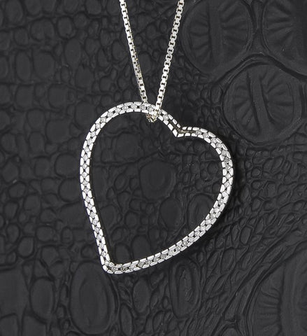 Pendant, Sterling Silver & Diamond