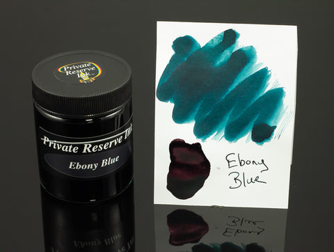 Private Reserve Bottled Ink, Ebony Blue