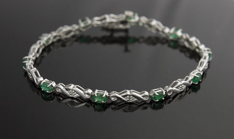 Bracelet, Emerald & Diamond