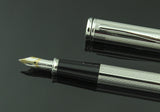 Cross, Townsend Barley Corn Fountain Pen, Rhodium w/Chrome Plated Trim