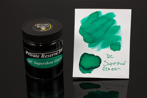 Private Reserve Bottled Ink, DC Supershow Green
