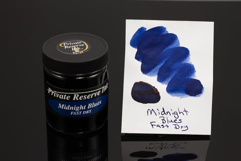 Private Reserve Bottled Ink, Midnight Blues Fast Dry