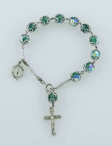Jewelry, Bracelet, Sterling Silver & Crystal (Chapel)