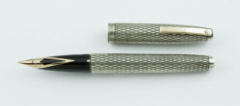 Sheaffer, Triumph Imperial Fountain Pen, Sterling Silver w/Gold Plated Trim - VP4553