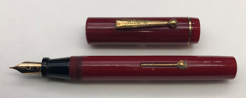 DuBarry, Lever Filler Fountain Pen, Red w/Gold Plated Trim - VP4936