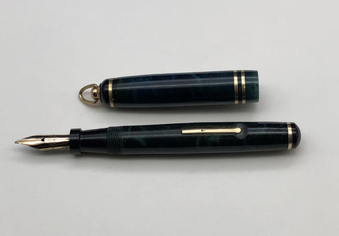 Carter's, Pearltex Ring Top Fountain Pen, Sapphire w/Gold Fill Trim - VP4961
