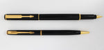 Parker, Place Vendome Fountain Pen & Ballpoint Pen Set, Black Laque w/Gold Plated Trim - GU216-PR