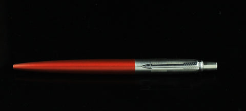Parker, Jotter Ballpoint Pen, Metallic Orange w/Chrome Plated Cap