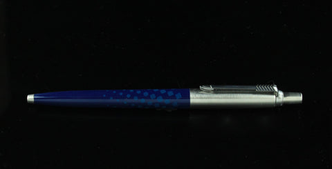 Parker, Jotter Ballpoint Pen, Blue Dots w/Chrome Plated Cap