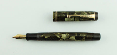 Parker, Duofold Jr. Streamline Fountain Pen, Seagreen Pearl w/Goldfill Trim - VP4539