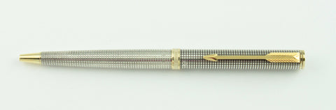 Parker, Premier Collection Cisele Ballpoint Pen, Sterling Silver w/Gold Plated Trim