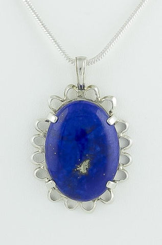 Pendant, Sterling Silver & Lapis