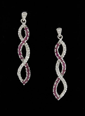 Earrings, Ruby & Diamond