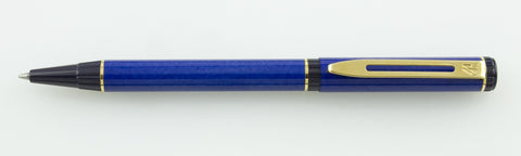 Waterman, Laureat Ballpoint Pen - Blue w/Gold Plated Trim - GU226-PR