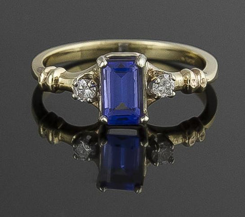 Ring, Tanzanite & Diamond