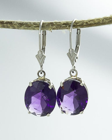 Earrings, Amethyst