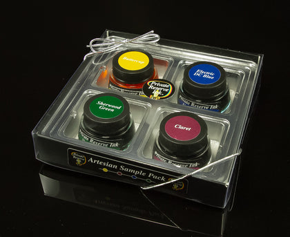 Bottled Ink, Private Reserve Ink, Sample Pack, Artesian
