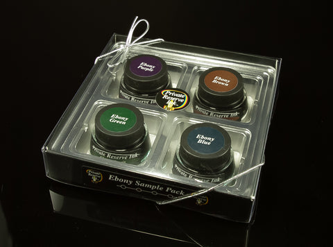 Bottled Ink, Private Reserve Ink, Sample Pack, Ebony