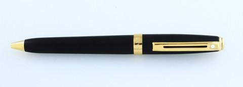 Sheaffer, Prelude Ballpoint Pen, Matte Black w/Gold Plated Trim - NOS108