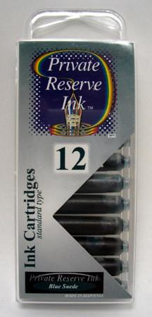 Private Reserve Ink - Blue Suede Ink Cartridges 12 Pack