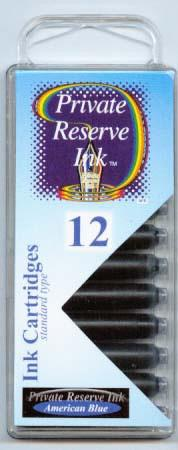 Private Reserve Ink - American Blue Ink Cartridges 12 Pack