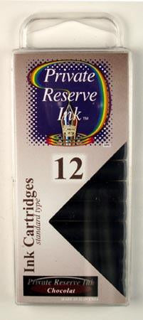 Private Reserve Ink - Chocolat Ink Cartridges 12 Pack