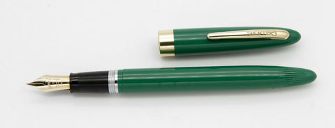 Sheaffer, Admiral Fountain Pen, Fern Green w/Gold Fill Trim - VP4860