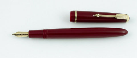 Parker, Junior Fountain Pen, English Red w/Gold Fill Trim - VP4764
