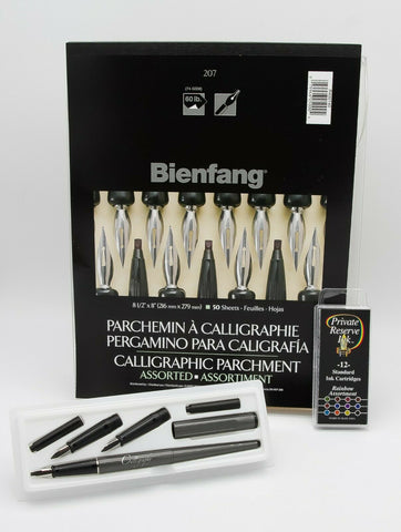 Calligraphy Set, Private Reserve Ink, Beinfang & Vivapen - PE1118