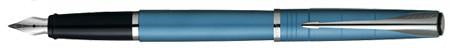 Parker, Latitude Fountain Pen, Slate Blue w/Chrome Plated Trim