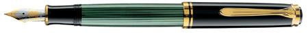 Pelikan, M800 Souveran Fountain Pen, Green w/Black Cap & Gold Plated Trim