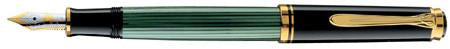 Pelikan, M400 Souveran Fountain Pen, Green w/Black Cap & Gold Plated Trim