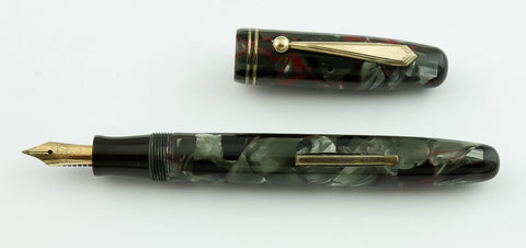 Parker, Parkette Writewell Fountain Pen, Black, Red & Grey w/ Gold Plated Trim - VP4624